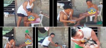 VIRAL: Proud Grandson Shares Photos While Bathing Grandma