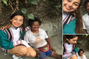 Beautiful Band Majorette Earns Praise for Act of Kindness to Crippled Man