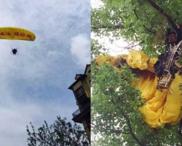 LOOK: Man's Epic Parachute Proposal Fails