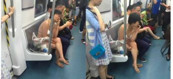 LOOK: Woman Wearing Only Her Underwear Seen Riding Subway in China