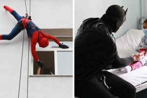 Albanian Cops Delight Kids At Hospital By Disguising As Superheroes