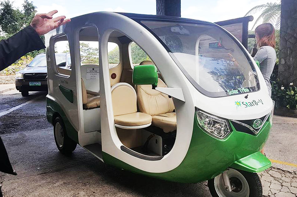 baguio city solar tricycle 1