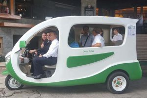 To Address The Worsening Air Pollution, Baguio City Tests Out Solar Tricycles