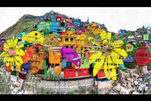 La Trinidad Residents Transform Their Homes into a Giant Mural… Stunning!