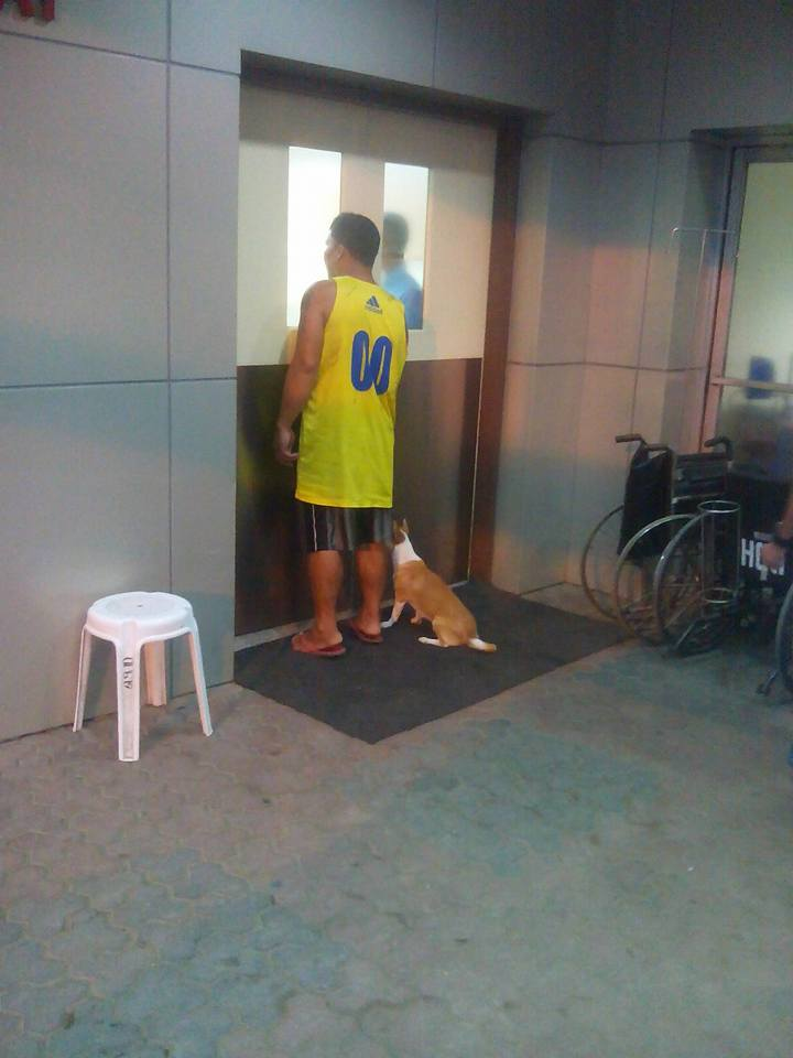 Saicy waiting outside the ER door Photo credit: Facebook / Arvin Ceria