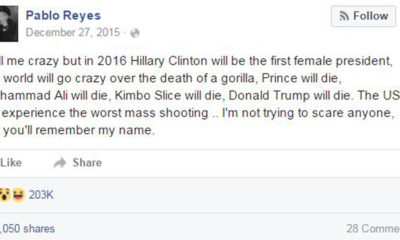 facebook user predicts future