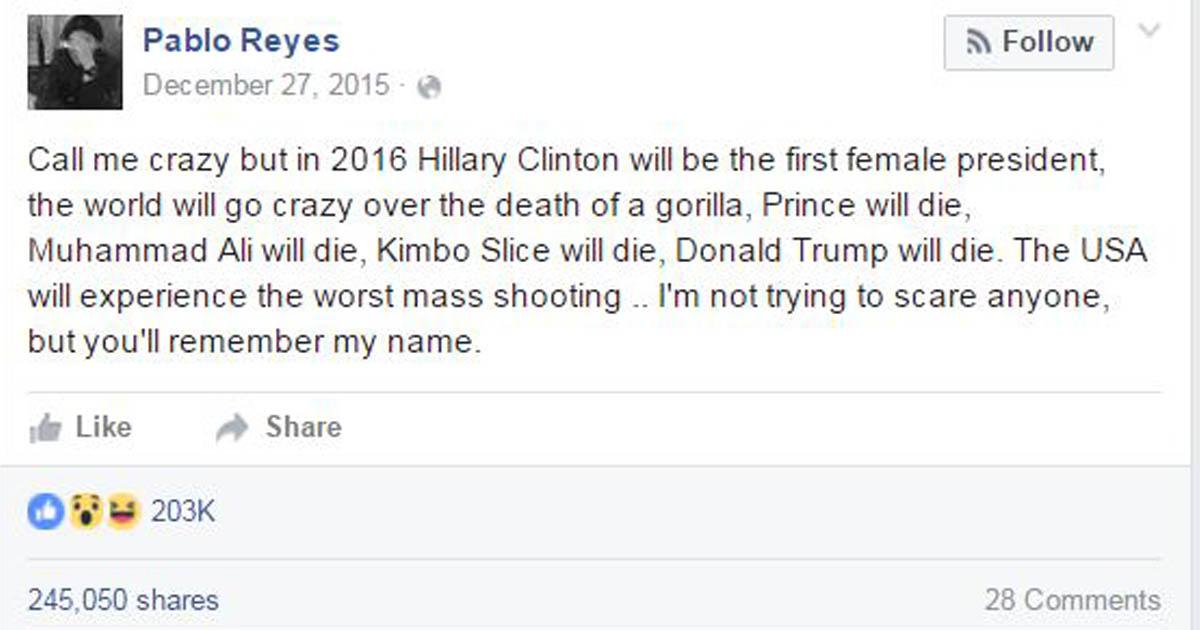 facebook user predicts future