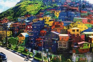 Locals Turn Hundreds of Benguet Houses into Colorful Mural