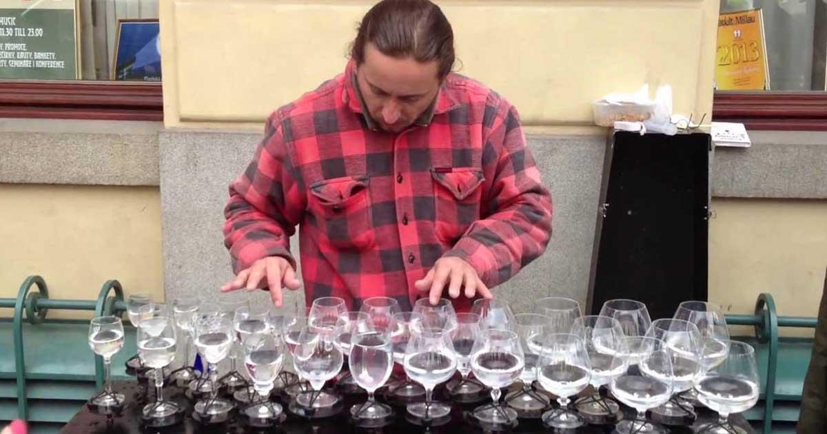 street musician petr spatina glass water instrument