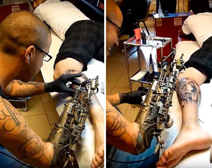 tattoo artist prosthethic arm 2