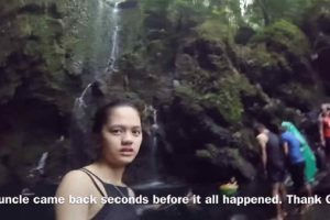 OFW Shares Nightmare Experience with Flash Flood at a Waterfall