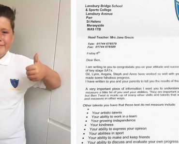 Autistic Boy Fails Exams But Receives Heartwarming Letter From School