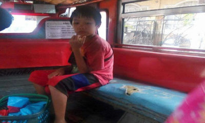 boy in jeep