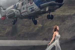 This Chopper Almost Hits Bride's Head During Crazy Wedding Photo Shoot