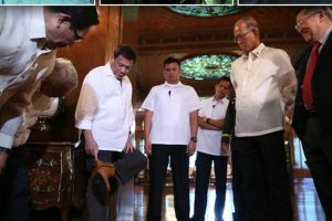 VIRAL: Duterte Proudly Dons Pair of Shoes Given by 68-Year-Old Marikina Shoemaker