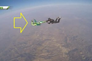 Skydiver Shatters World Records as He Jumped from 25,000 Feet Without a Parachute!