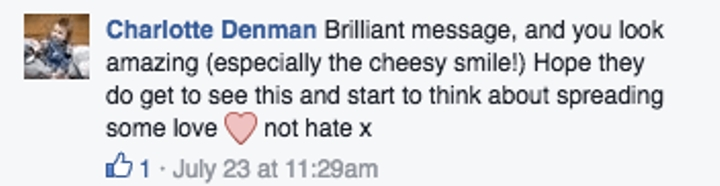 woman compliments bodyshamers 3
