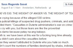 International Relations Student Writes Viral Open Letter Against Those Angry with the Extra Judicial Killings in the Philippines