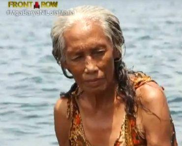This 74-Year-Old Badjao Grandma Still Dives for Coins