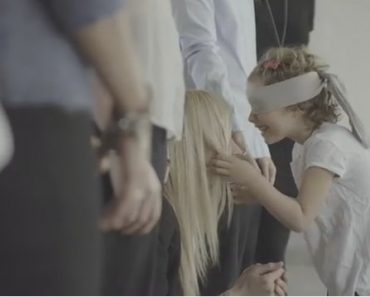 These Kids had to Find their Moms while Blindfolded. So Touching…