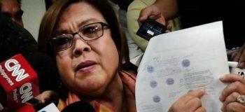 "De Lima Calls Duterte's Drug Matrix a ""Joke"""