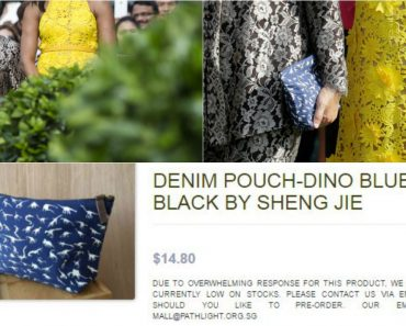 """Wife of Singapore Prime Minister Uses SG$15 """"Dino Bag"""" to White House Function"""