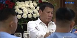 Pres. Duterte Holds Back Tears as He Listens to Speech of Blind Soldier