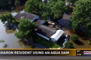 Homeowner Saves His House from Flood Using a Water-Filled Dam