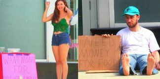 hot girl vs homeless man social experiment