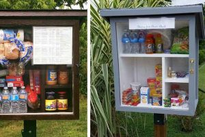 Little Free Pantry Project Allows Needy People Get Free Food and Goods