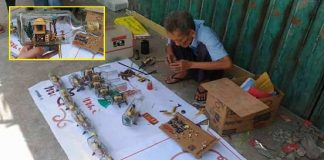 man selling bahay kubo