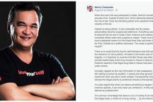 Film Director Manny Castañeda Alleges Aquino Admin of Receiving Drug -Money