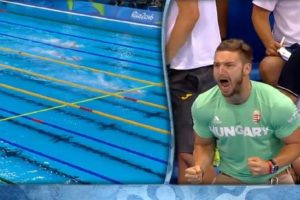 LOOK: Husband of Hungarian Olympic Swimming Champion is the Ultimate Cheerleader