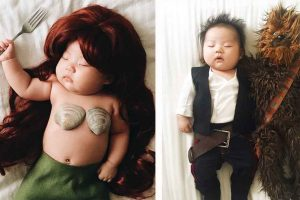 This Cute Baby Transforms Into A Cosplay Star Everytime She Sleeps