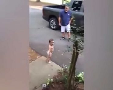 Adorable Toddler Couldn't Stop Saying Goodbye to Dad