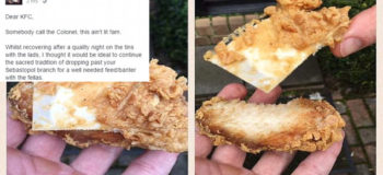Man Finds Cardboard in KFC Order, Asks for Buckets of Chicken as Compensation