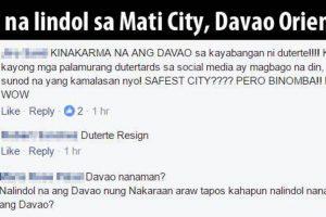 Anti-Duterte People Blaming the President for Davao Earthquake