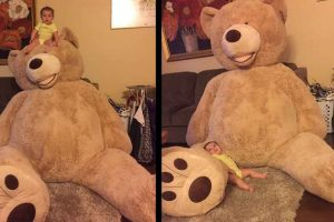 Grandpa Sends Coolest Gift Ever For Granddaughter – A Giant Teddy Bear!