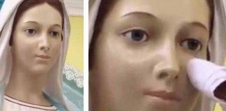 honduras crying virgin mary statue
