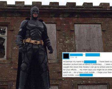 Man Dressed as Batman Patrols a UK Town to Fight Killer Clowns