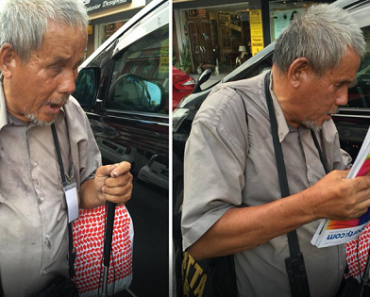 Blind Man Sells Magazines, Earns Admiration for Not Begging Despite His Condition