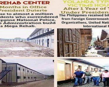Netizens React Over Photos Comparing 'Yolanda' Housing with Mega Drug Rehab