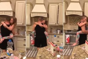Woman Catches Beautiful Unguarded Moment of Husband Dancing with Their Daughter