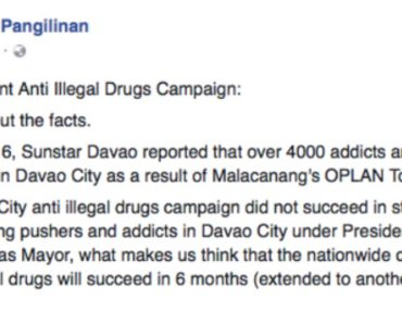 Sen. Kiko Pangilinan Questions Duterte's Strategy to Fight Illegal Drugs; Suggests Alternative Solution