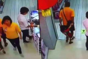 Dad Accidentally 'Kills' Son In Supermarket After Falling On Him