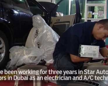 Despite Disability, This Pinoy Mechanic Works in Dubai