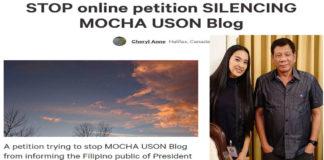 mocha-uson-petition
