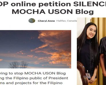 Netizen Launches Counter-Petition to Stop Online Petition Silencing Mocha Uson Blog