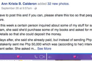 Scammer Uses Bank Details of Online Seller to Get Money from Victims