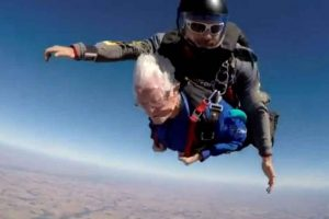 Coolest Grandma Ever: 95-Year-Old Woman Celebrates Birthday by Skydiving!